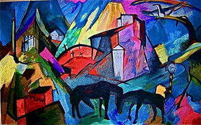 Cemetary Painting - Horses by Karissa Bordin