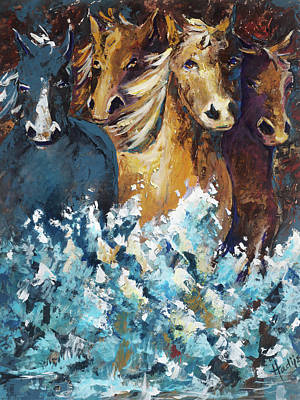 Pace Painting - Horses by Mary DuCharme