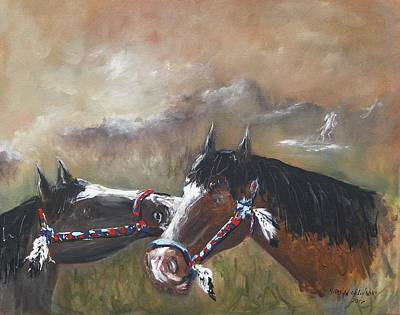 Painting -  Horses by Miroslaw  Chelchowski