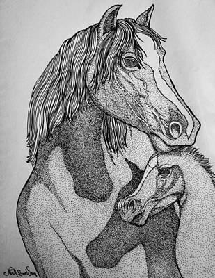 Horses Print by Nick Gustafson