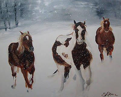 Painting - Horses Of 3 by Sarah LaRose Kane