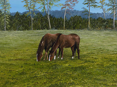 Arkansas Painting - Horses Of Romance by Mary Ann King