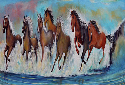 Painting -  Horses Of Success by Virginia Bond
