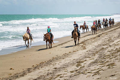 Photograph - Horses On The Beach by Fran Gallogly