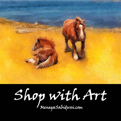 Painting - Horses On The Coast Of Brittany - Shop With Art by Menega Sabidussi