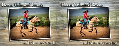 Digital Art - Horses Unlimited Coffee Mugs #1 by Walter Herrit