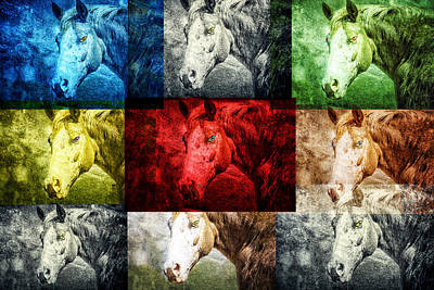 Digital Art - Horses Unlimited by Georgianne Giese