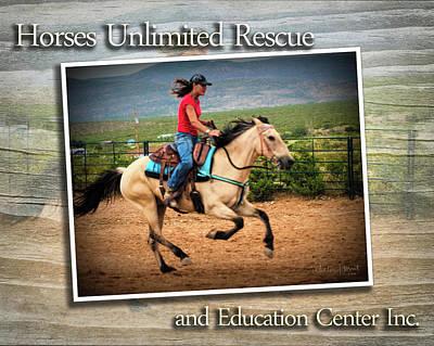 Digital Art - Horses Unlimited Rescue #1 by Walter Herrit