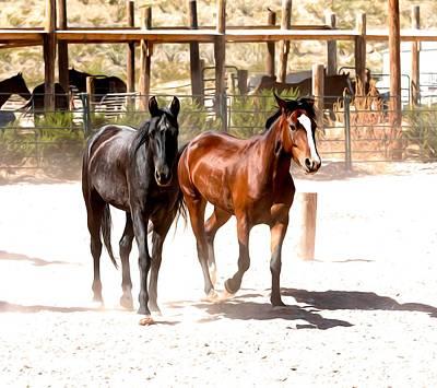 Horses Unlimited_6a Art Print