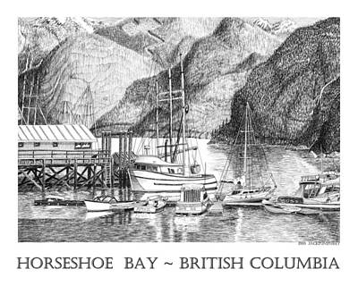 Vancouver Drawing - Horseshoe Bay British Columbia by Jack Pumphrey