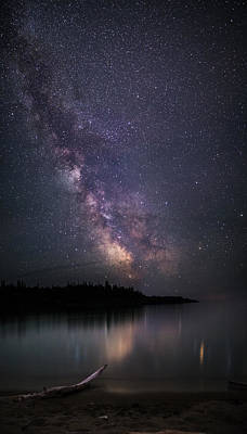Gichigami Photograph - Horseshoe Beach Milky Way Pano by Jakub Sisak