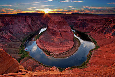 Non-urban Scene Photograph - Horseshoe Bend Arizona by Dave Dill