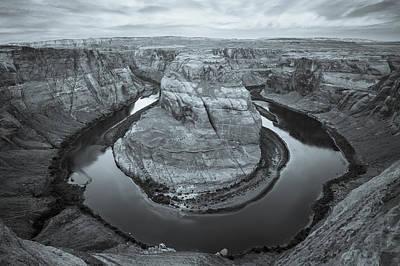 Photograph - Horseshoe Bend - Arizona - Selenium by Gregory Ballos