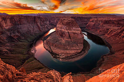 Photograph - Horseshoe Bend, Colorado River, Page, Arizona  by Bryan Mullennix