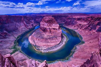Grand Canyon Photograph - Horseshoe Bend Grand Canyon Arizona by Garry Gay