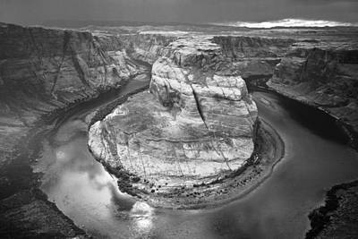 Photograph - Horseshoe Bend - Monochrome  by Hany J