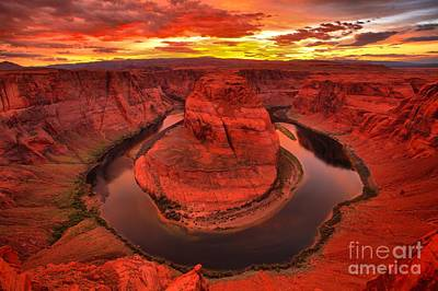 Photograph - Horseshoe Bend On Fire by Adam Jewell