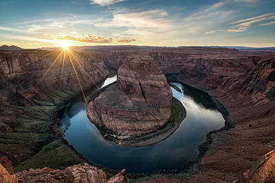 Photograph - Horseshoe Bend Sunset by James Udall