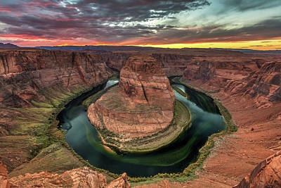 Photograph - Horseshoe Bend Sunset by Pierre Leclerc Photography