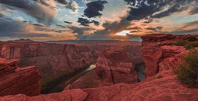 Photograph - Horseshoe Bend Sunset by Tim Bryan