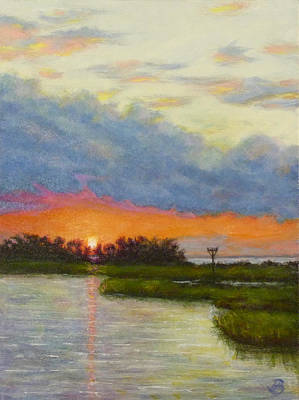 Painting - Horseshoe Cove Sunset by Joe Bergholm