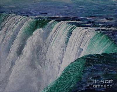 Painting -  Niagara Falls The Horseshoe by Bob Williams