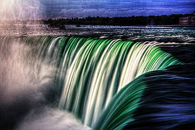 Photograph - Horseshoe Falls Niagara Falls Canada No 01 by Roger Passman