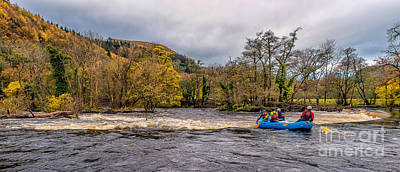 Kayak Photograph - Horseshoe Falls Rafting by Adrian Evans