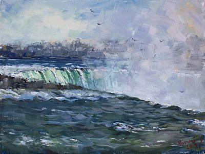 Waterscape Painting - Horseshoe Falls by Ylli Haruni