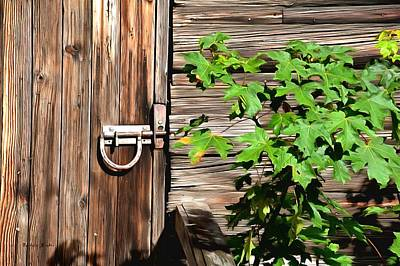 Photograph - Horseshoe Latch On The Barn Door Painting by Barbara Snyder