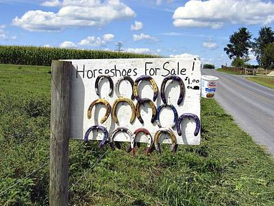 Photograph - Horseshoes For Sale by Tana Reiff