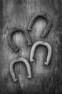 Blacksmith Photograph - Horseshoes Set by YoPedro
