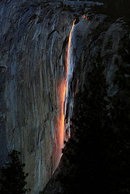 Photograph - Horsetail Falls Aglow by Patricia Sanders