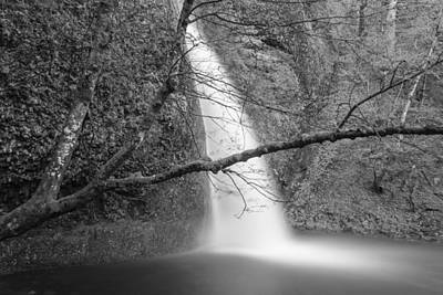 Photograph - Horsetail Falls Black And White  by John McGraw