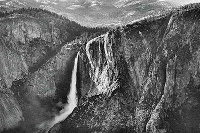 Photograph - Horsetail Falls Black And White by JC Findley