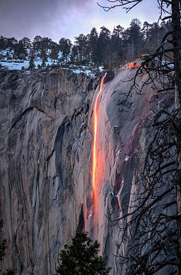 Photograph - Horsetail Falls Glows 2017 by Connie Cooper-Edwards