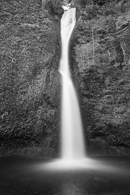 Photograph - Horsetail Falls In Black And White The Splash by John McGraw