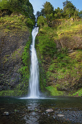 Photograph - Horsetail Falls In Spring by Greg Nyquist