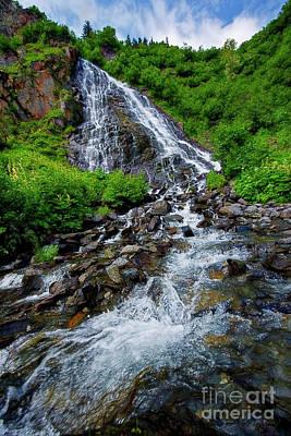 Photograph - Horsetail Falls Near Valdez by David Arment