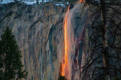 Photograph - Horsetail Falls Sunset Glow 2017 by Connie Cooper-Edwards