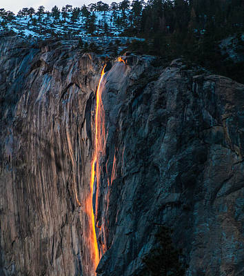 Photograph - Horsetail Water Fall Glow by Connie Cooper-Edwards