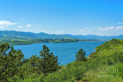 Horsetooth Dam View Art Print