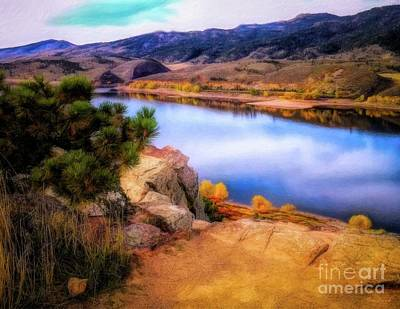 Horsetooth Lake Overlook Art Print
