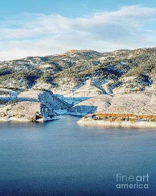 Horsetooth Reservoir And Rock Art Print by Marek Uliasz