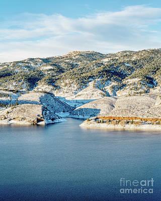 Horsetooth Reservoir And Rock Art Print