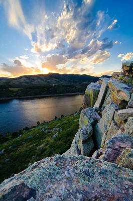 Horsetooth Reservoir, Fort Collins, Colorado Art Print by Preston Broadfoot