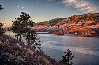 Photograph - Horsetooth Resivoir by Charlie Alolkoy