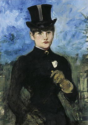 Women Painting - Horsewoman, Fullface by Edouard Manet