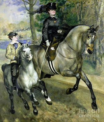 Horsewoman In The Bois De Boulogne Art Print by Pierre Auguste Renoir