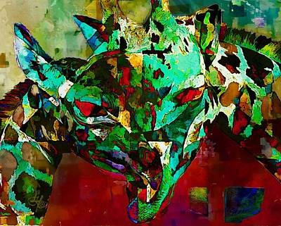 Digital Art - Horsing Around by Lynda Payton